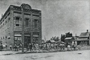 Bicycle Club Meeting In Front of 1891 IOOF Hall on Northwest Corner of Center Avenue and 8th Street.