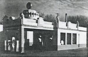 1926 Goodman Oil Service Station. One of a few Art Deco Examples Remaining Today.* Demolished in 2015.