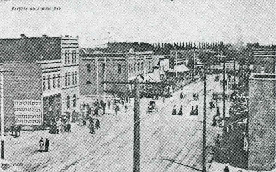 Busy Sidewalks c. 1910
