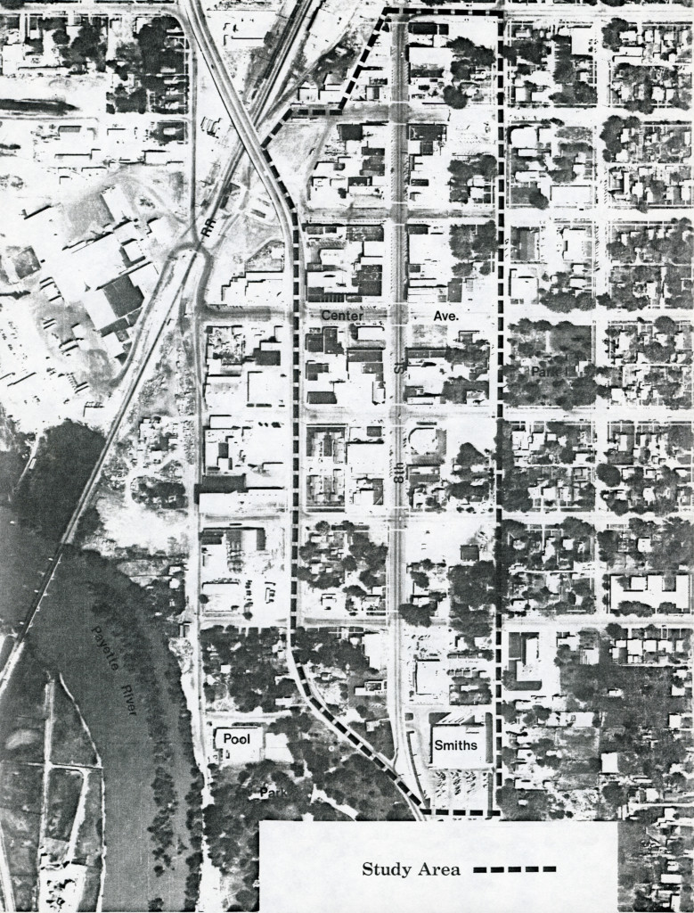 Aerial Photo of Payette City Center and Study Area