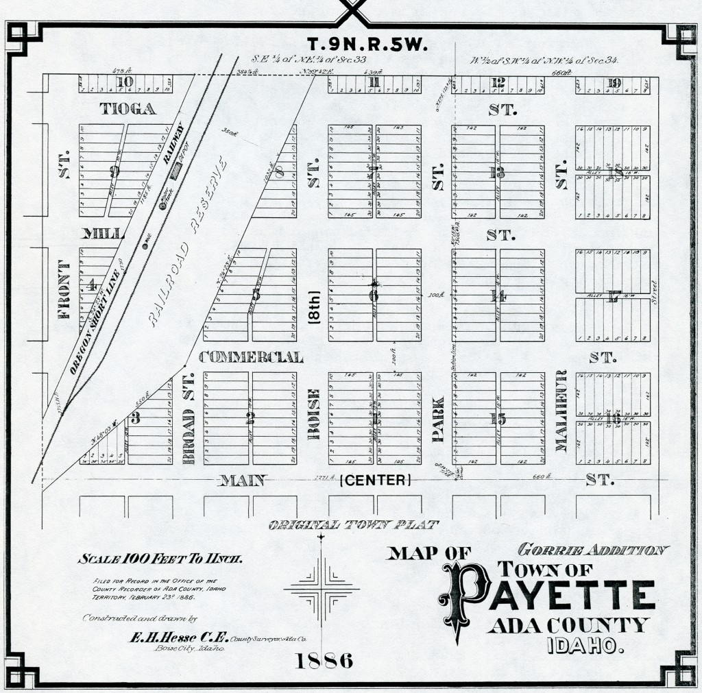 1886 Gorrie Addition Plat Map