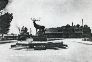 Oregon Short Line Depot and Elk Fountain