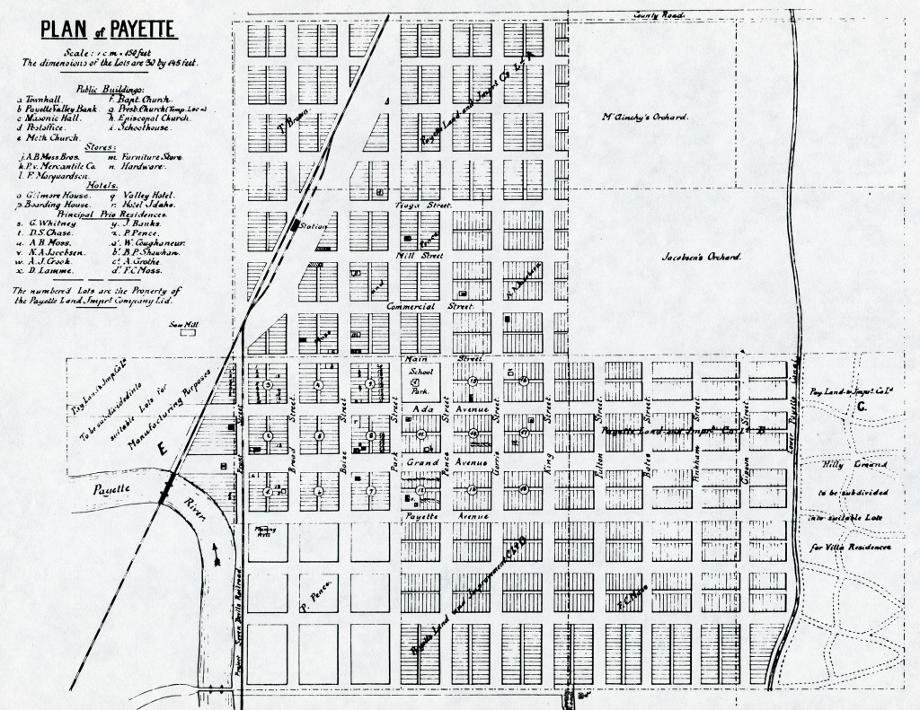 1895 Plan of Payette